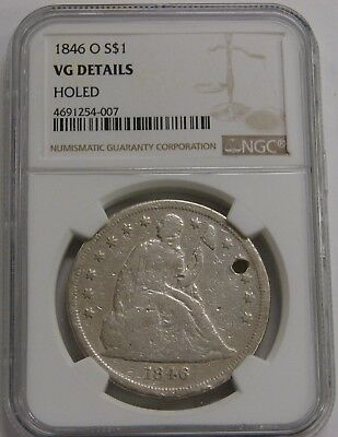 1846 O - Seated Liberty Silver Dollar - NGC VG Details