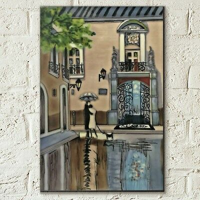Boulevard Hotel by Brent Heighton Decorative Ceramic Picture Tile 8x12 Art 05965