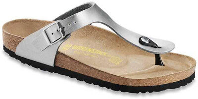BIRKENSTOCK GIZEH IN Silver (Art:043851) Cork Sandals