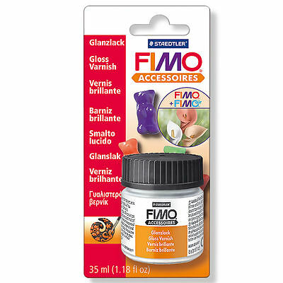 Staedtler Fimo Water Based Gloss Varnish 35ml Modelling Clay Tumdee Accessories