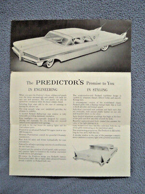 1956 Packard Automobile Car Dealership Sales Brochure ~ Futuristic Packard Car
