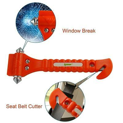 2 x Car Belt Cutter Escape Hammer Emergency Safety Window Glass Breaker Tool