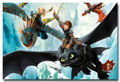 """How To Train Your Dragon 2 Cartoon Toothless Movie Poster 13x20 20x30"""" 24x36"""" #4"""