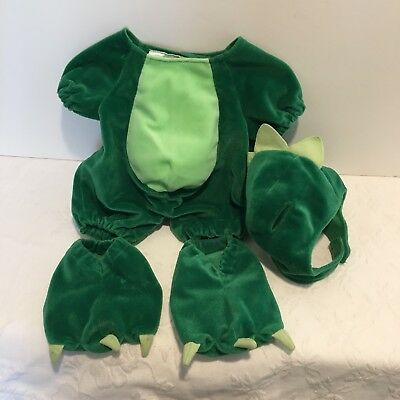 HTF Build-a-Bear Green Dinosaur Outfit Costume Dress up 4pc Set