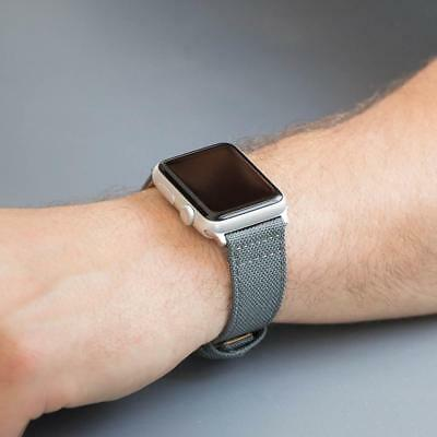 Dusk Cordura Canvas Leather Watch Band for 42mm Apple Watch