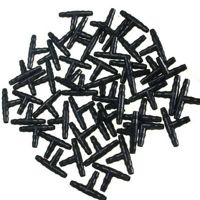 50Pcs Barbed Reducing Tee Connector Irrigation Pipe Water Hose 35x14x3mm CMX