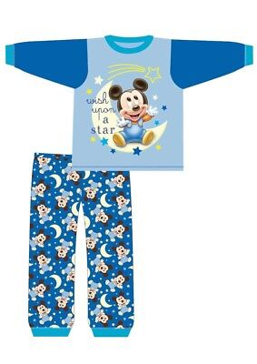 Mickey Mouse Character Pyjamas Baby Boys Kids PJs Nightwear 6 9 12 18 24 Months