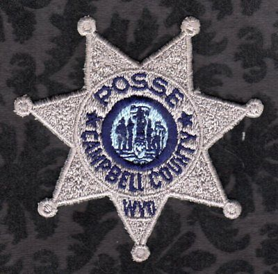 Campbell County WYO Wyoming Sheriff Posse Patch  7 Point Star 3-1/4""