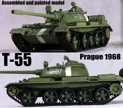 Easy Model USSR army T-55 Russian tank Prague Spring 1968 1:72 finished