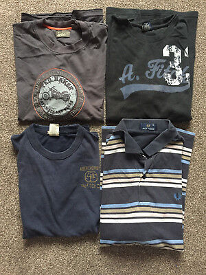 4 x T shirts Clothes Abercrombie Fred Perry Ted Baker bundle Size XL