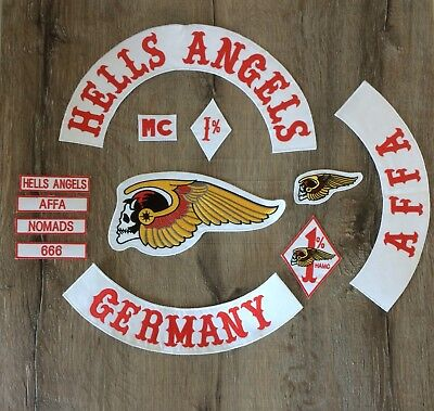 hells angels ha motorrad club biker patch germany selten. Black Bedroom Furniture Sets. Home Design Ideas