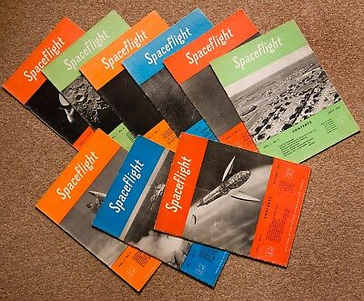 Rare Spaceflight Magazines of the BIS from Oct 1956 - Oct 1958, Vol 1 No1 to  9