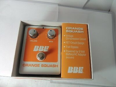 BBE Orange Squash Compressor Effects Pedal Free USA Shipping
