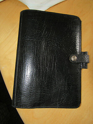 Vintage FILOFAX Black CALF LEATHER PLANNER Organizer  MADE IN ENGLAND 4CLF 7/8