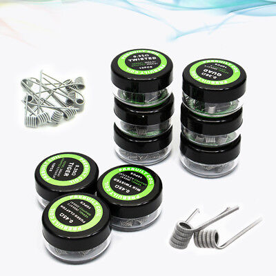 10x Alien Flat-Twisted Clapton Tiger Hive Heating Wire Premade RDA RBA Coil