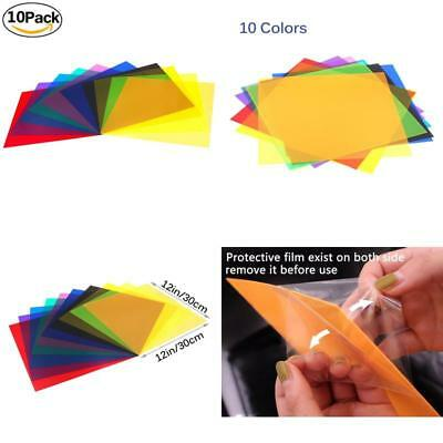 Etyhf Colored Overlays Transparency Color Film Plastic Sheets Correction Gel Lig
