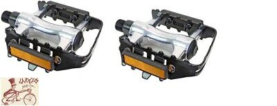 """SUNLITE LOW PROFILE ATB PLASTIC 9//16/"""" BICYCLE PEDALS W// TOE CLIPS"""