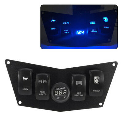 Motorcycle Dash Panel 4 Switch Fit For Polaris Ranger RZR 800S 900XP 570 Superb