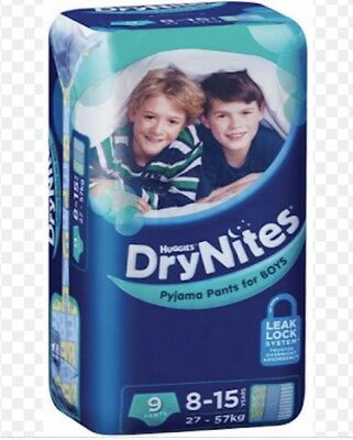 Huggies DryNites Boy 8+ Years 9 Pack