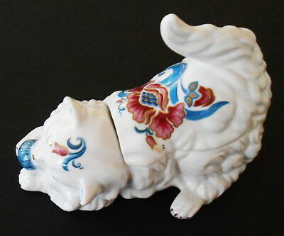 Persian Cat Trinket Box Made In Japan By Elizabeth Arden Scented Double Candle