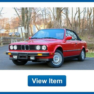 BMW 3-Series E30 Convertible Sport 5Speed Manual Serviced 1987 BMW 325i E30 Convertible Sport 5Speed Manual Serviced Collectible