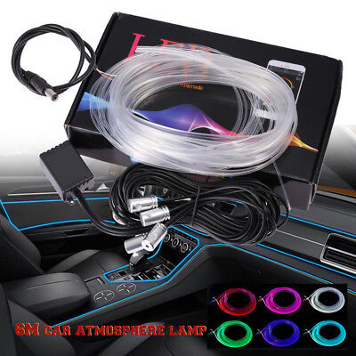 6M RGB Multi-Color Light LED Interior Neon Strip Sound Bluetooth Phone Control