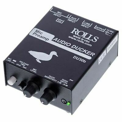 Rolls DU30b Audio Ducker with Mic & Background Music Preamp