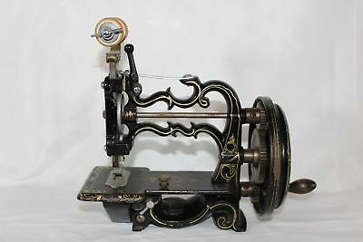 Antique c1880 Cast Iron H. VIGNERON SEWING MACHINE Toy France Hand Cranked