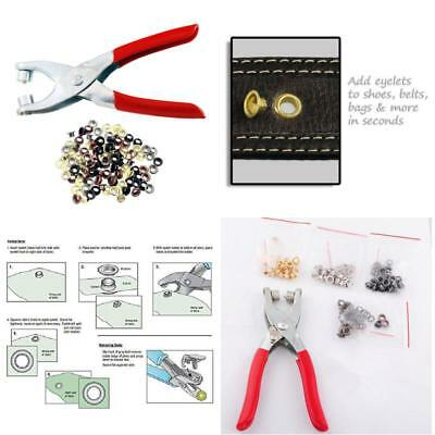 Grommet Setter Pliers Setting Leather Craft Tool Hole Punch with 100 Eyelet Kit
