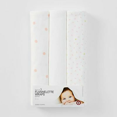 NEW Pack of 3 Flannelette Wraps