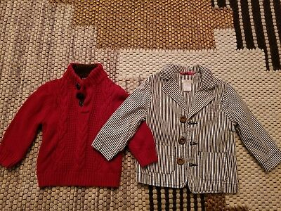 Baby boy sweater and jacket 12 months new