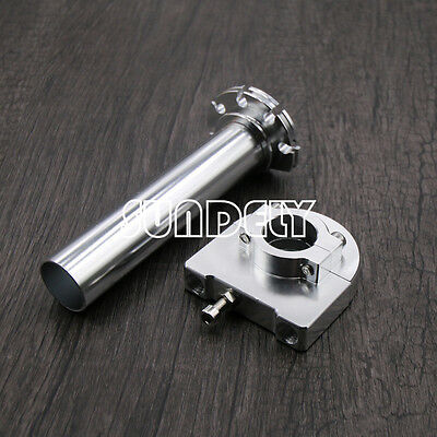"Silver 7/8"" Motorcycle CNC Accelerator Handle Bar Control Grip Throttle Twist"