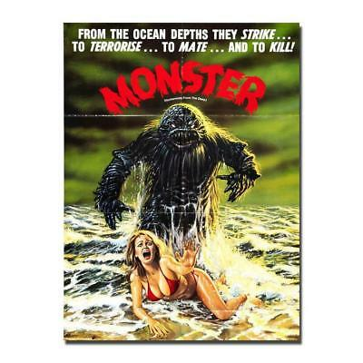 Creature From The Black Lagoon Hot Movie Canvas Poster 8x12 24x36 inch