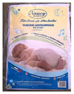 Cushion Suffocation in Cotton for Cot Newborn Pillow Anti-mite Drilled