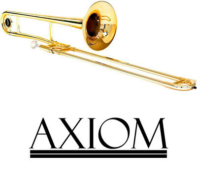Axiom Tenor Trombone Bb for Beginner School Student with Case 2 Year Warranty