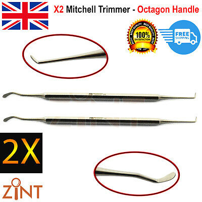 Set Of 2 Dental Mitchell Trimmer Oral Surgery Teeth Extraction Double End Lab CE
