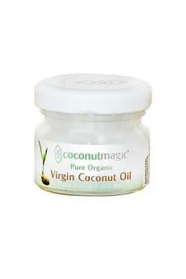 Coconut Oil 25ml Jar 100% Certified Organic Virgin Cold Pressed Raw Travel Size