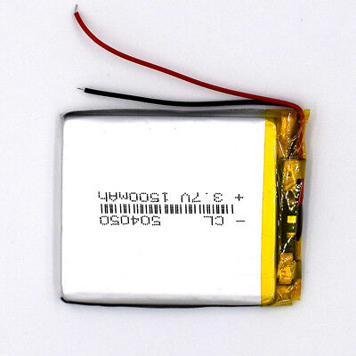 3.7 V 1500mAh 504050 LiPolymer Rechargeable Battery Li Po Cell for GPS Bluetooth