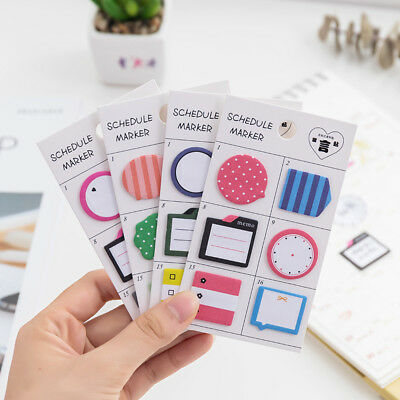 Cute Memo Pad Paper Sticky Note Self Adhesive Planner Stickers Stationery