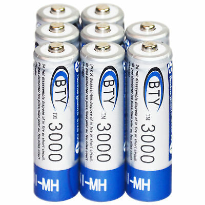 8xAA LR06 3000mAh 1.2V Ni-MH rechargeable battery BTY cell for MP3 RC Toy Camera