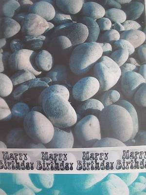 9 Sheets Of Printed Pebble Vellum Paper 404x296mm, Cardmaking AM409
