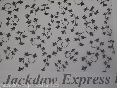 25 Sheets A4 100gsm Printed Vellum - Ivy Design (Black) AM508