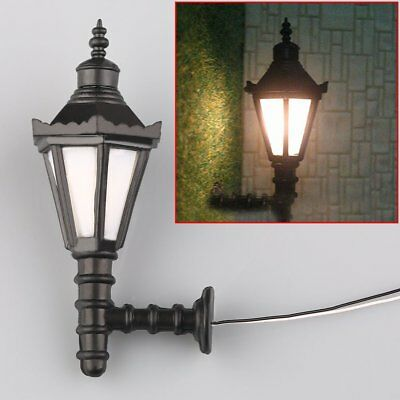 10pcs Antique 1:75 Model OO Scale Railway Led Wall Lights Lamppost Lamps 3V