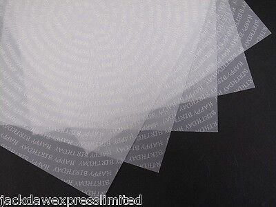 Vellum White Printed Happy Birthday Spiral A4 x 25 Sheets for Cardmaking AM521