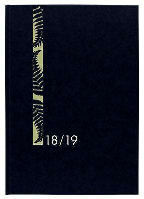 Diary 2018/19 Financial Year Milford Hard Cover A5 Day to Page Black 441346