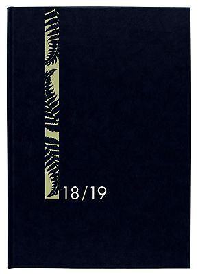 Diary 2018/19 Financial Year Milford Hard Cover A5 Week to View Black 441349