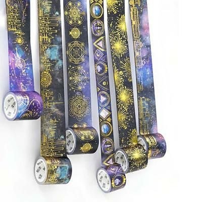 Gold foil Series Paper Sticky DIY Scrapbooking Washi Tape Adhesive Decor Sticker