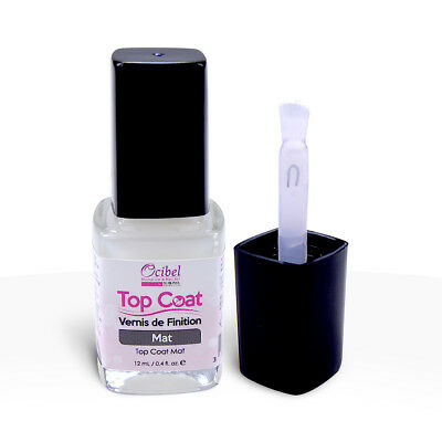 Vernis de Finition Top Coat Mat sans UV - 12 ml Manucure France Ongles Nail Art