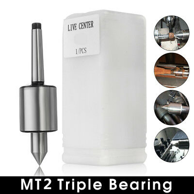 MT2 Live Center Morse Taper Precision Triple Bearing Lathe Medium Duty CNC US
