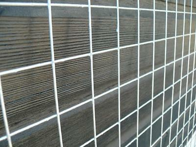 2 pack 8x4ft welded wire mesh panels galvanised steel grid fence